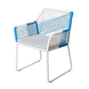 Vivienne Cadeira Pealuminio Azul 60 X 61 X 80 Cm