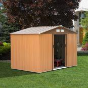 Abrigo para o jardim tipo barraco castanho