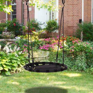 baloiço do para crianças balanço do ninho da criança forma redonda do balanço da árvore carga 100kg Assento confortável Tecido Oxford Jardim ao ar livre