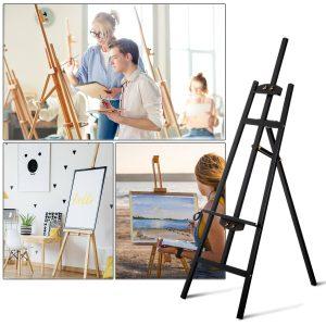 cavalete de pintar Cavalete De Madeira Desenho De Faia Estudo Inclinável 90 ° Tripé 46x60x140cm