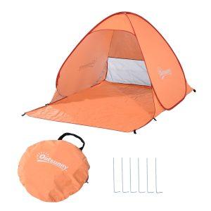 praia e acampamento com proteção UV