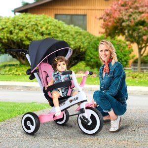 triciclo bebê 4 em 1 para crianças +18 meses Controle Parental