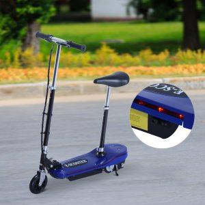 trotinete elétrica dobrável com luz LED - Cor azul - 81.5x37x96cm