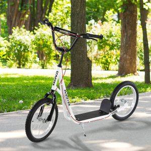 trotinete para crianças acima de 5 anos de altura ajustável com pneus Freio Branco