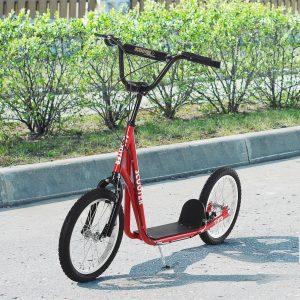 trotinete para crianças acima de 5 anos de altura ajustável com pneus Freio Vermelho